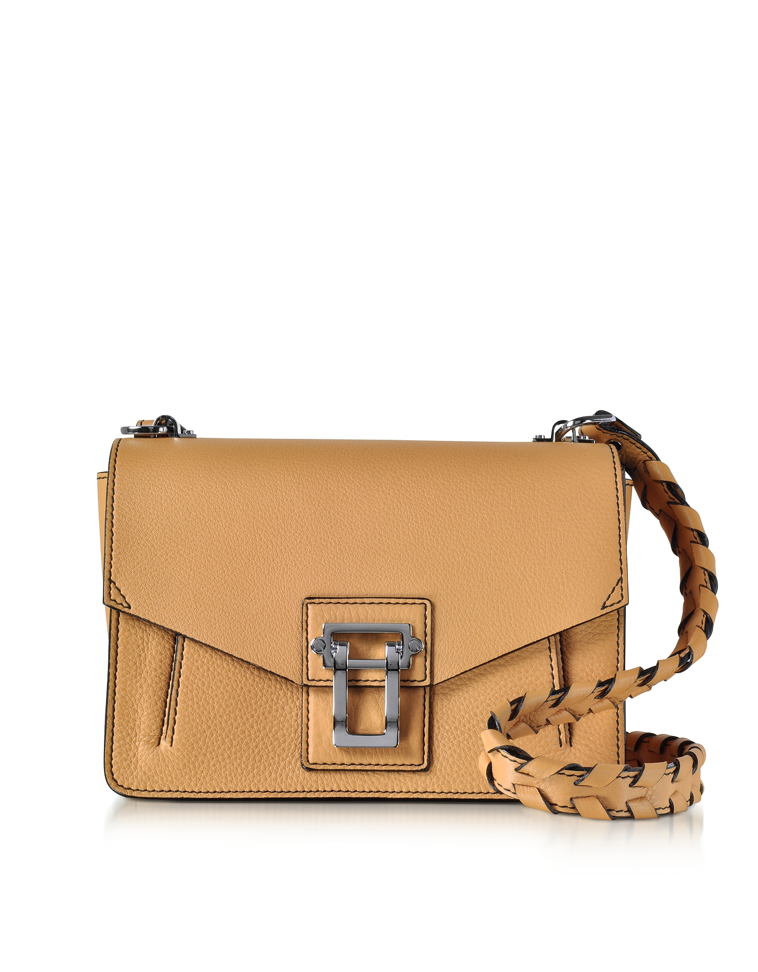 Proenza Schouler Handbags, Hava Wheat Lindos Leather Shoulder Bag w/Whipstitch Strap