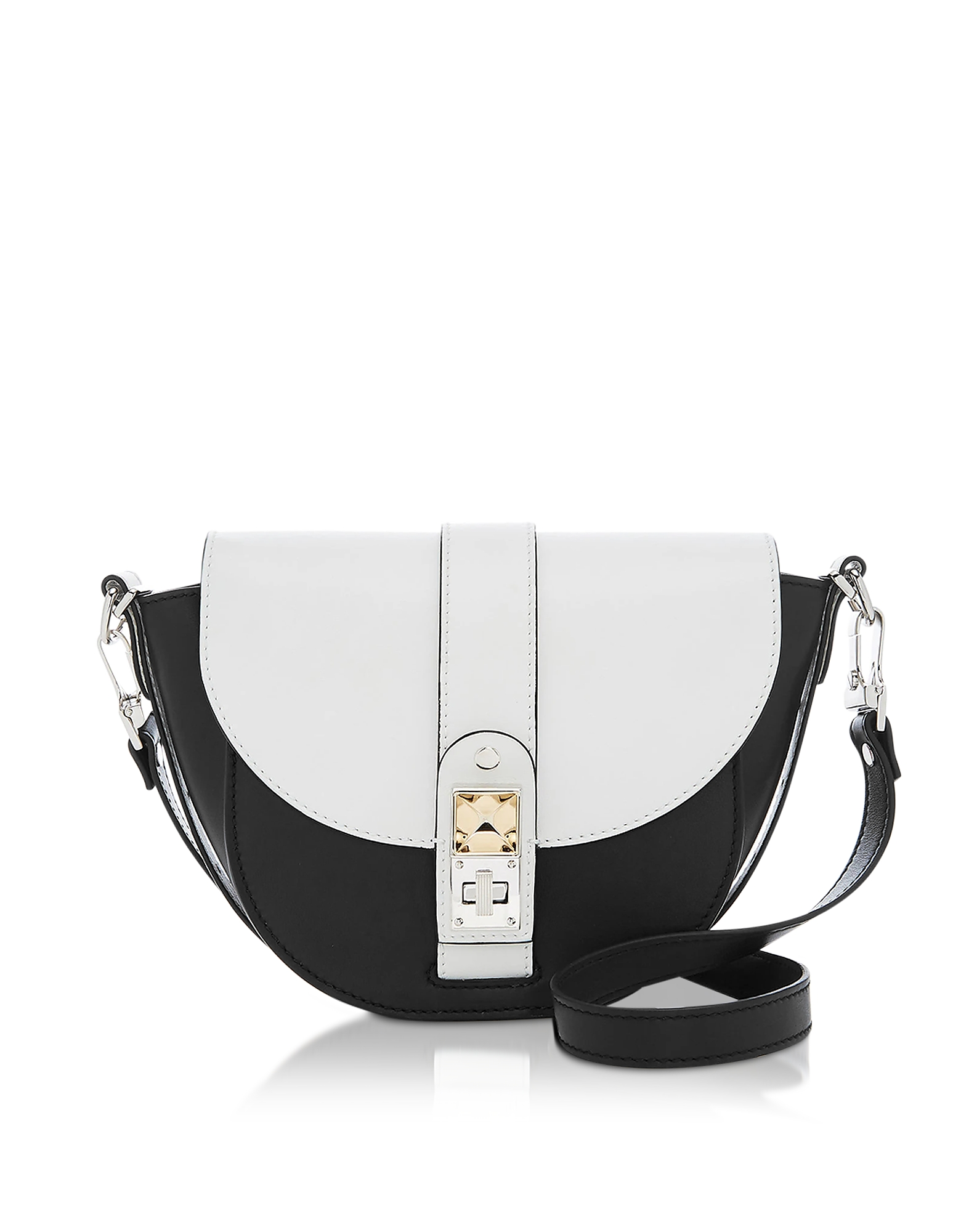 Optic White/Black Leather PS11 Small Saddle Bag