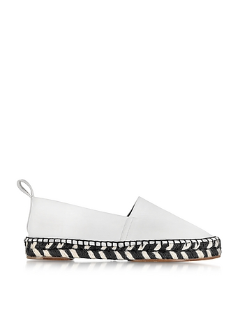 White Nappa and Jute Espadrille