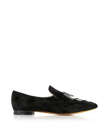 Black Suede Loafer