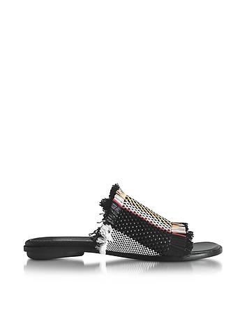 Proenza Schouler - Ginepro Woven Leather Flat Slide