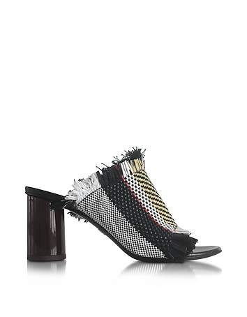 Ginepro Woven Leather High Heel Sandal