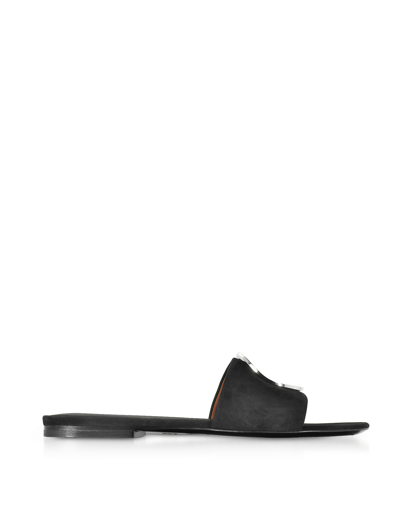 Proenza Schouler Shoes, Black Suede Slide Sandals