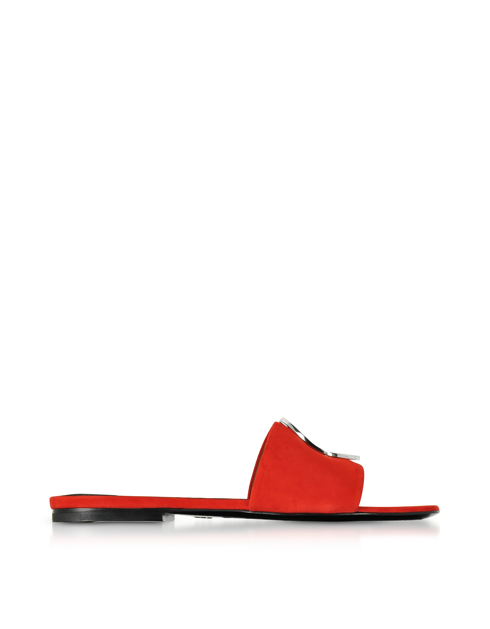 Proenza Schouler Shoes, Tulip Red Suede Slide Sandals