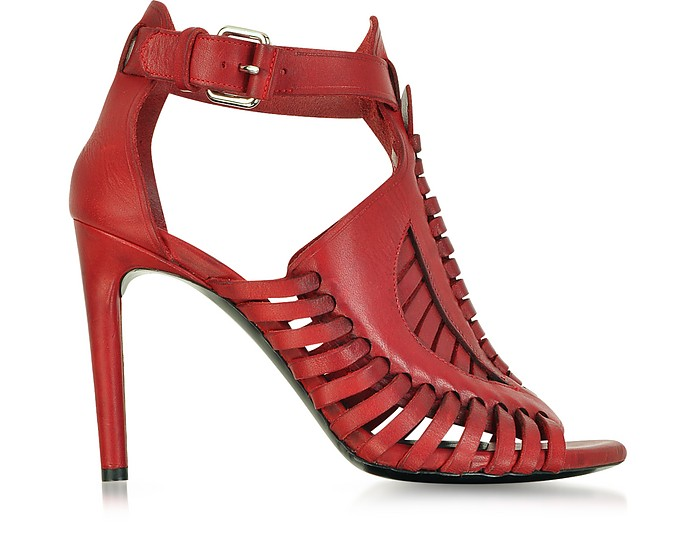Red Woven Leather Sandal - Proenza Schouler