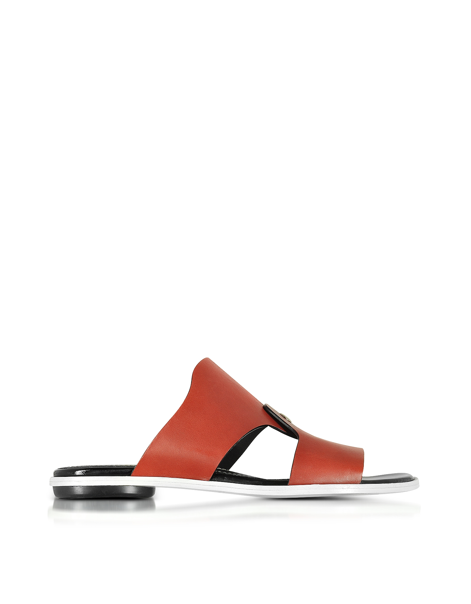 Proenza Schouler Shoes, Sienna Leather Flat Slide