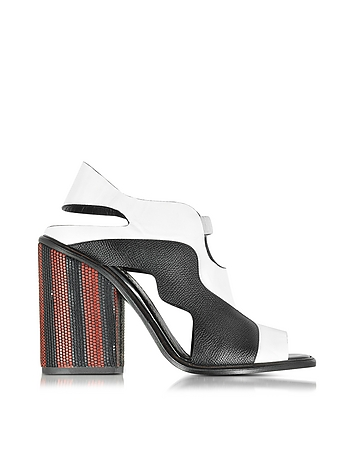Color Block High Heel Sandal
