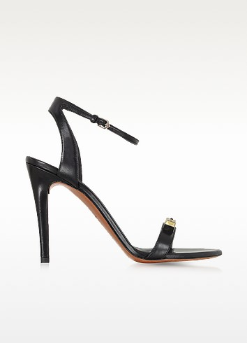Black High Heel Leather Sandal - Proenza Schouler