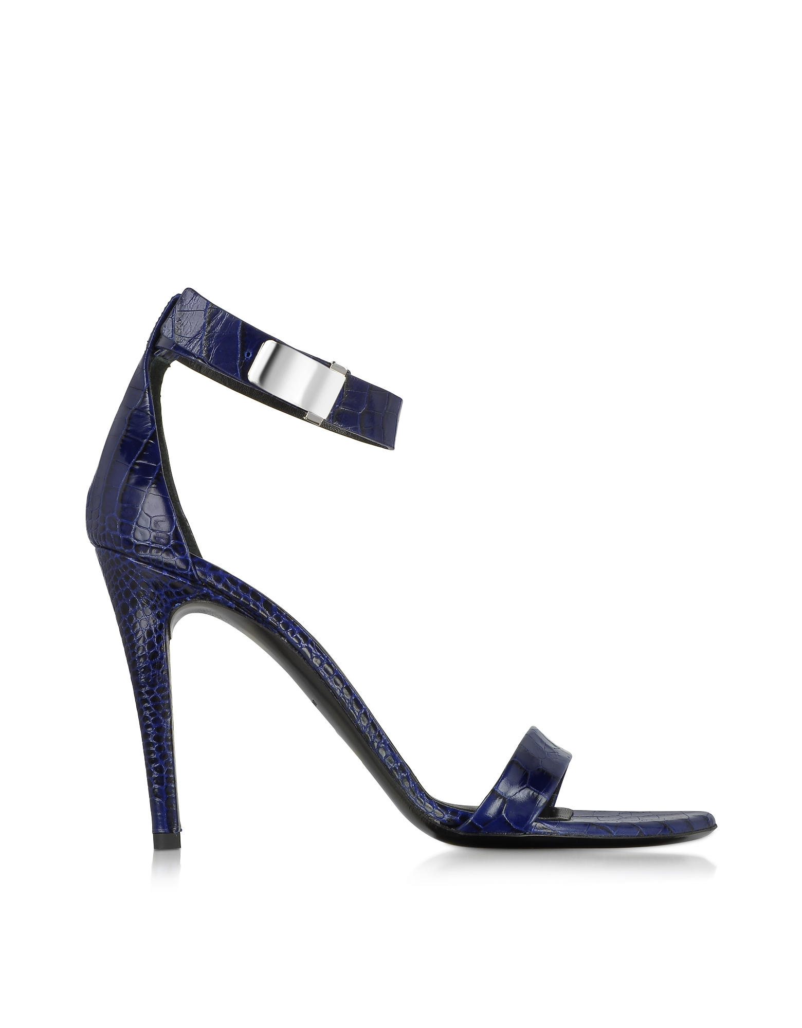 Proenza Schouler Shoes, Night Blue Printed Leather Sandal