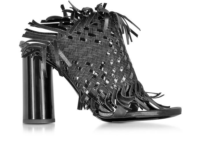 Black Woven Leather Sandal - Proenza Schouler