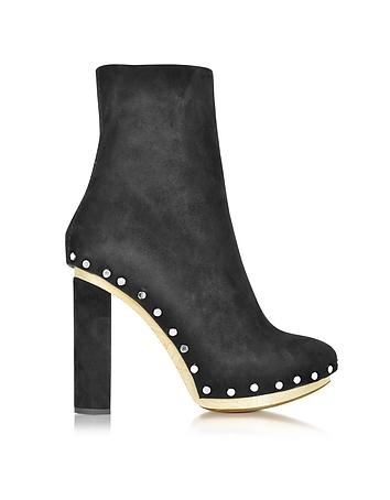 Black Suede Platform Boot