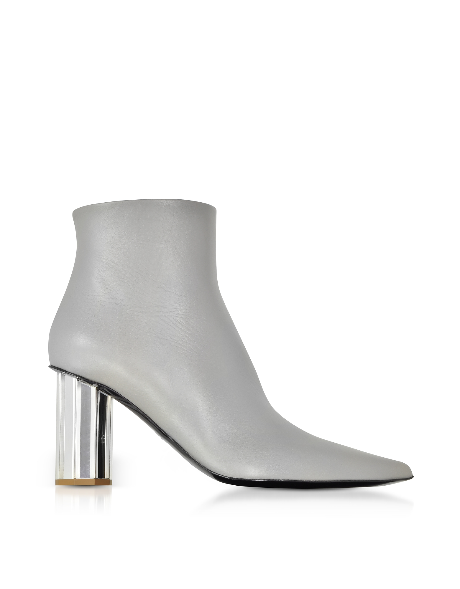 Proenza Schouler Shoes, Taupe Gray Leather Mirror Heel Boots