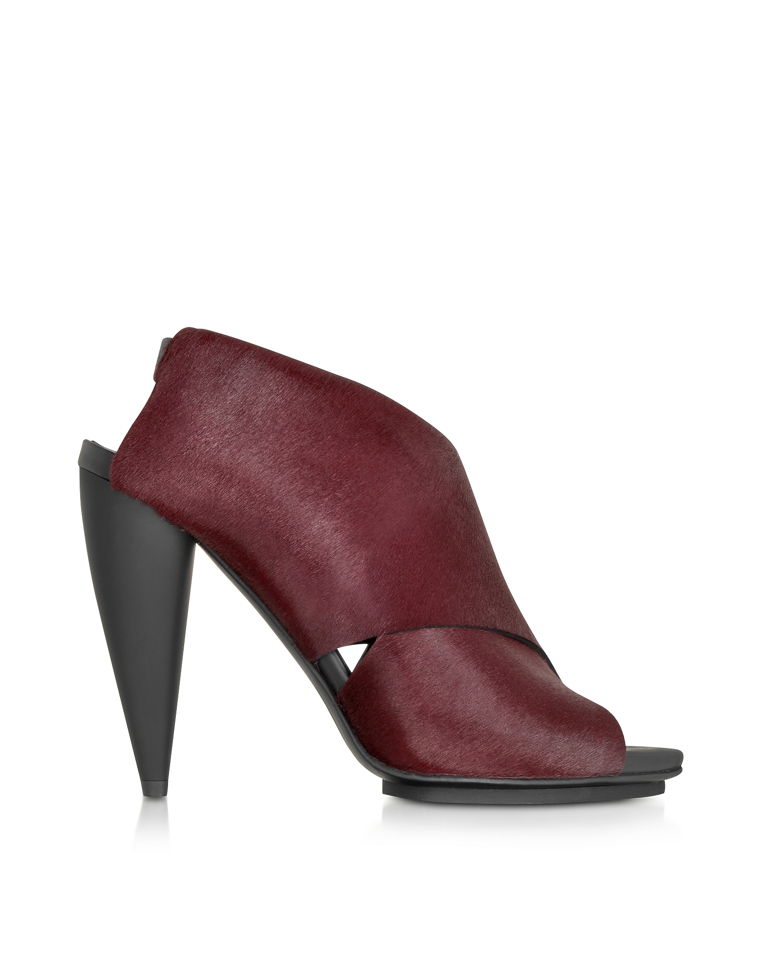 Proenza Schouler Designer Shoes, Bordeaux Kebir Haircalf Slingback Sandal