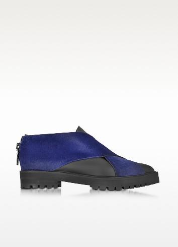 Dark Blue Haircalf and Rubber Shoe - Proenza Schouler