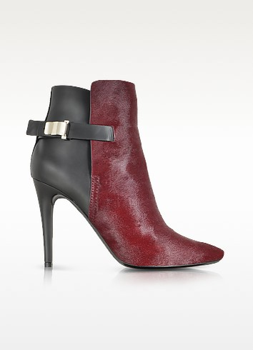 Bordeaux Kebir Haircalf and Rubber Ankle Boot - Proenza Schouler