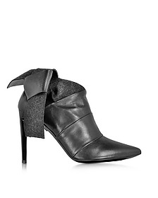 Black Leather and Felt Bootie - Proenza Schouler