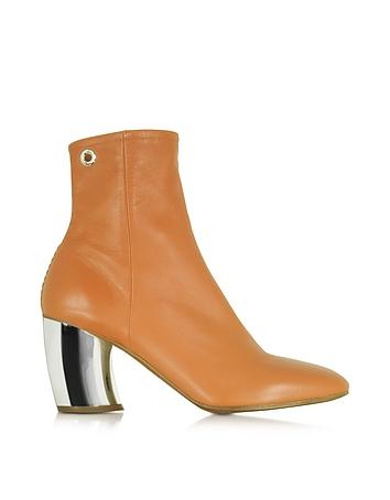 Tan  Leather w/Mirror High Heel Boot