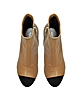 Light Brown Stretch Leather Open Toe Boots w/Mirror Heel - Proenza Schouler