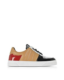 Light Brown Nappa and Silver Laminated Leather Sneakers - Proenza Schouler