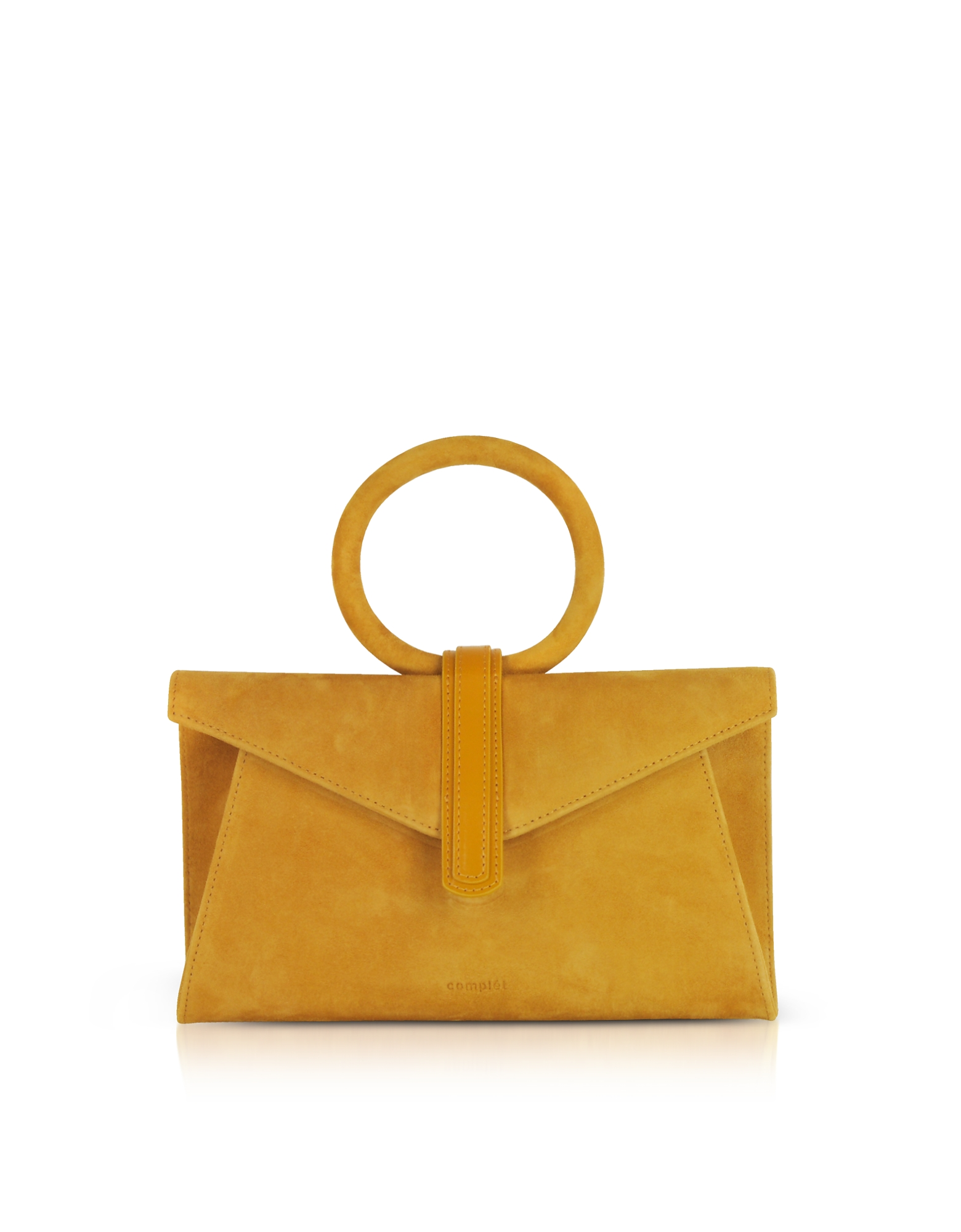 Valery Mini Clutch in Suede Mustard Yelllow con Tracolla