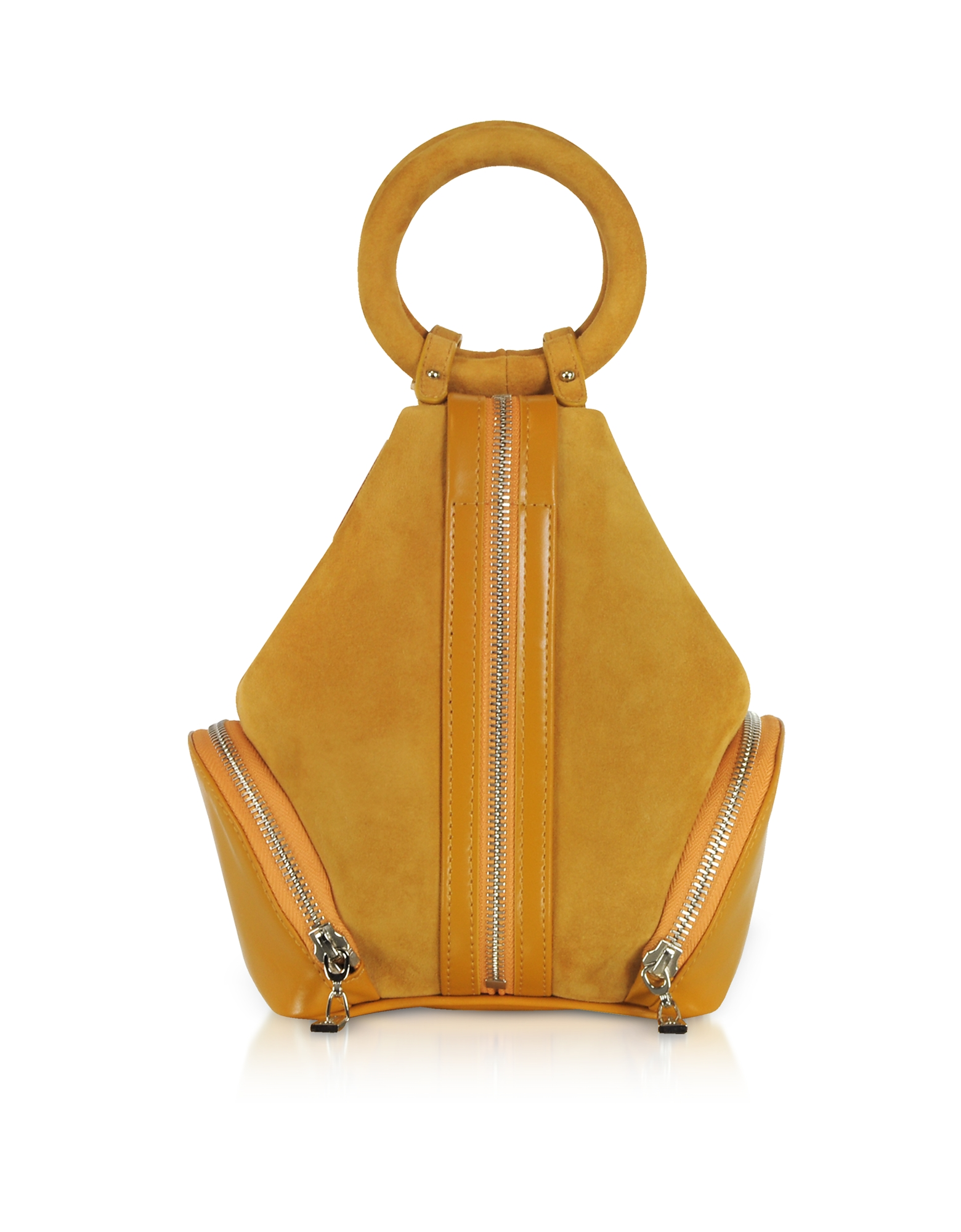 Complet Handbags, Mustard Yellow Suede Eve Micro Bag
