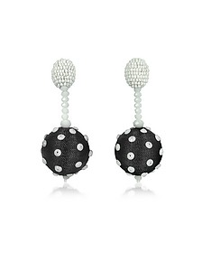 Polka Dot Sequin Single Ball Clip-On Earrings - Oscar de la Renta