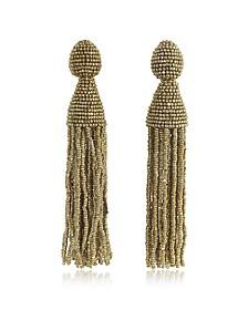 Classic Long Tassel Clip-On Earrings - Oscar de la Renta