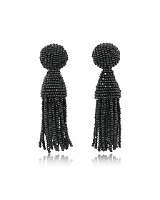 Classic Short Tassel Clip-On Earrings - Oscar de la Renta