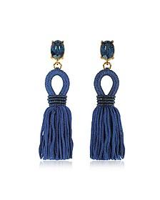 Short Silk Tassel Earrings - Oscar de la Renta