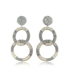 2 Hoop Silver Earrings - Oscar de la Renta