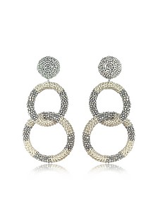 Silver 2 Hoop Earrings - Oscar de la Renta