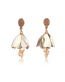 Mini Impatiens Flower Drop Earrings - Oscar de la Renta