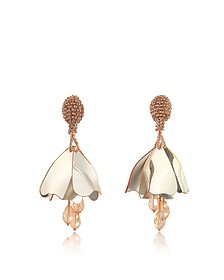 Mini Impatiens Flower Drop Earrings - Oscar de la Renta