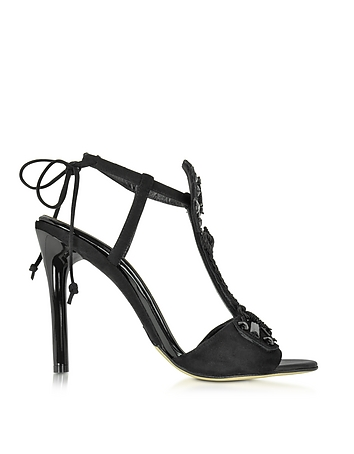Josefina Black Suede High Heel Sandal