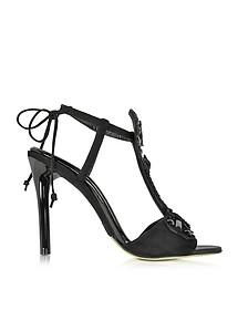 Josefina Black Suede High Heel Sandal - Oscar de la Renta