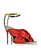 Angelica Poppy Red Satin & Specchio High Heel Sandal - Oscar de la Renta