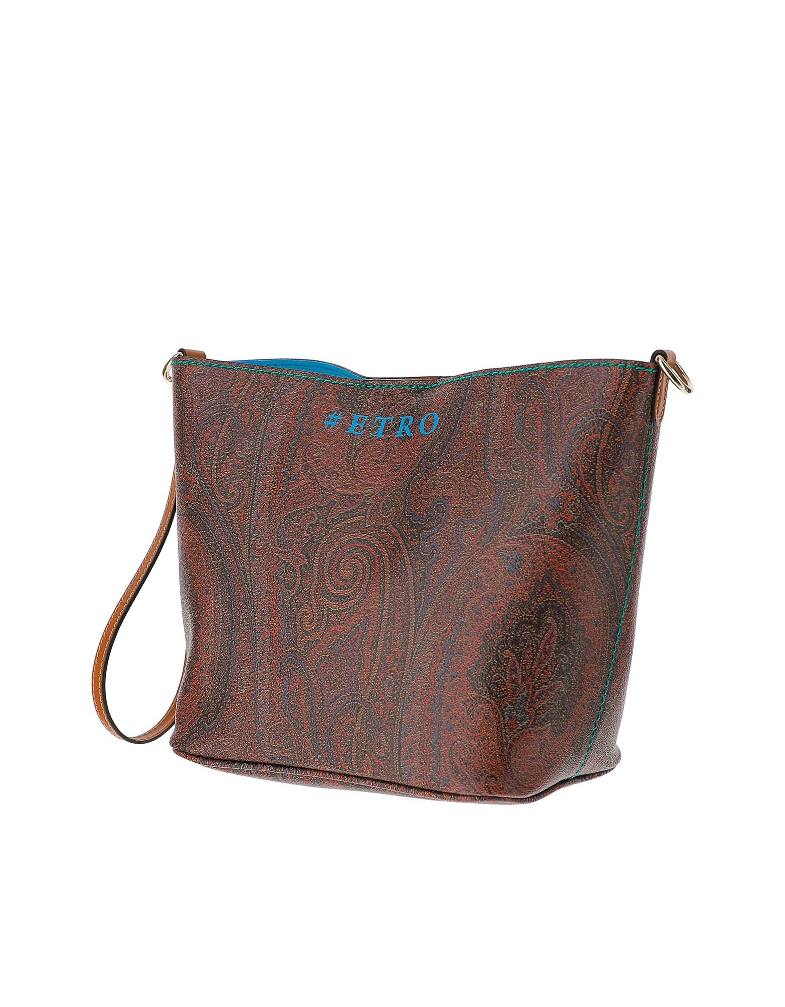 Etro Designer Handbags, Paisley Jacquard Canvas Shoulder Bag