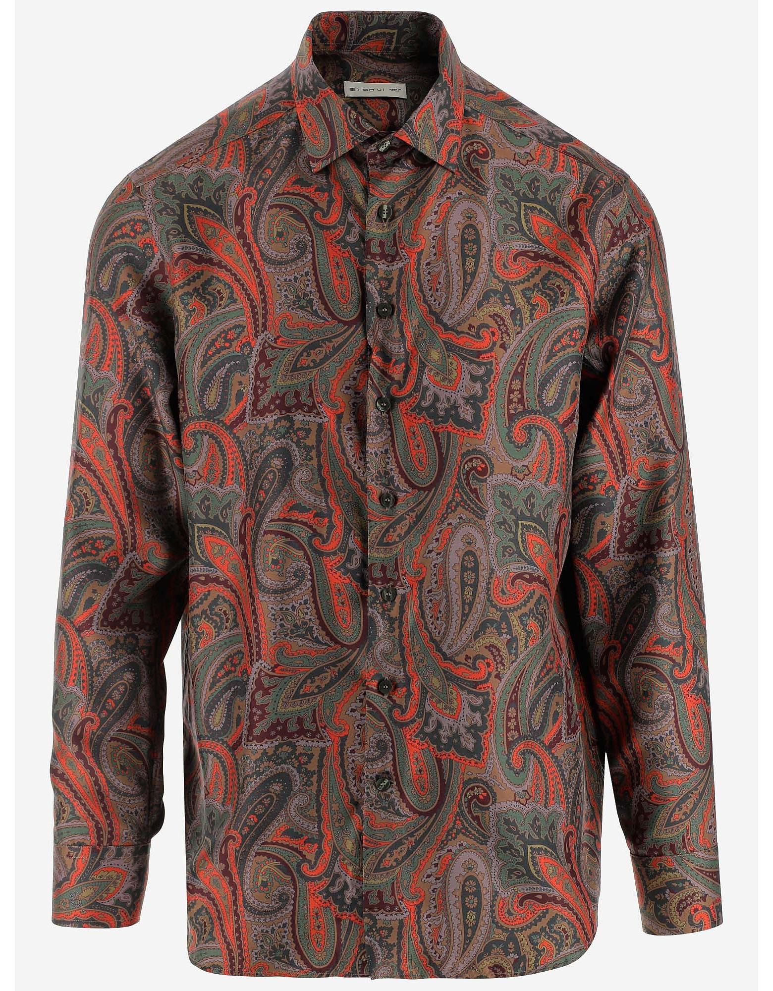 Etro Designer Shirts, Men's Casual Shirt