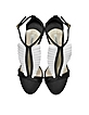 La Sensuelle Black & White Leather & Satin Sandal - Olgana Paris