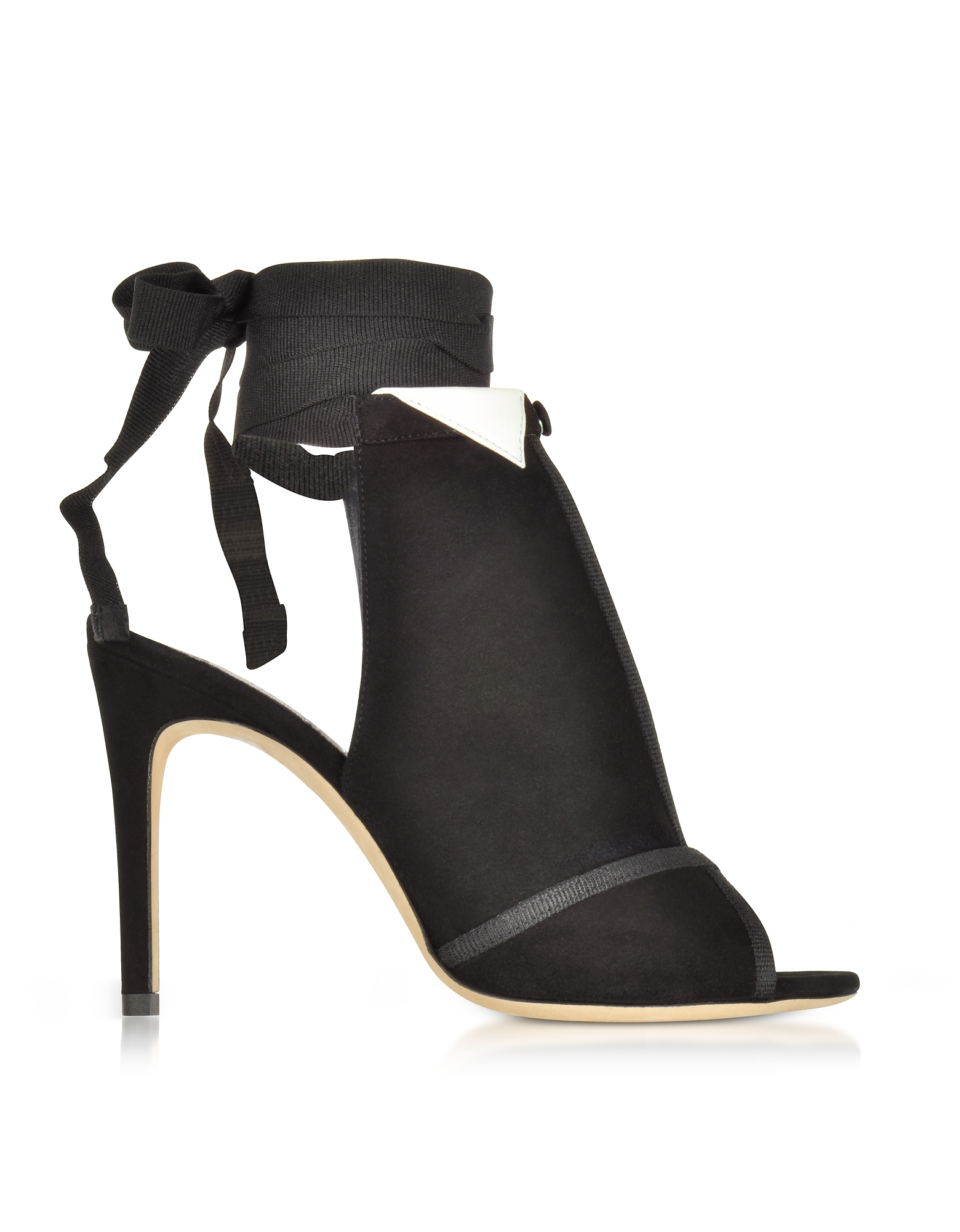 Olgana Paris Shoes, La Jolie Black Suede High Heel Pump