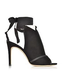 La Jolie 黑色麂皮高跟鞋 - Olgana