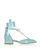 Olgana L'Ideal Baby Blue Mid-Heel Pumps aus Lackleder og430217-005-00