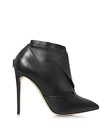 La Comtesse Black Leather Ankle Boot - Olgana Paris