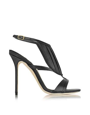 Olgana La Decouverte Sandaletten aus Satin in schwarz