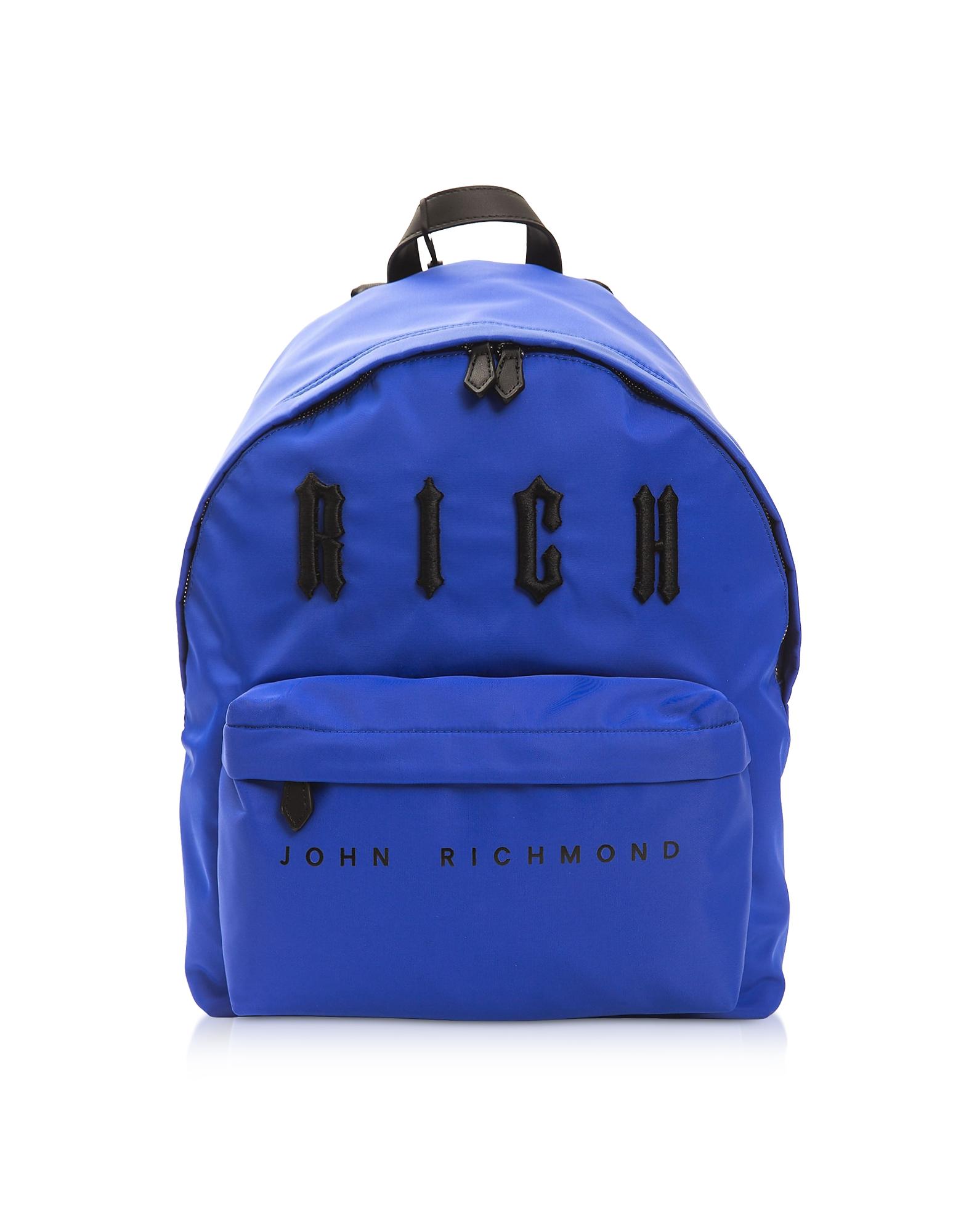 John Richmond Designer Men's Bags, Antec Ocean & Black Nylon Backpack
