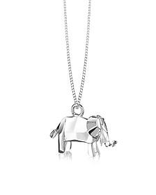Halskette aus Silber mit Elefant - Origami