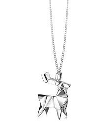 Halskette mit Hirsch aus Silber - Origami
