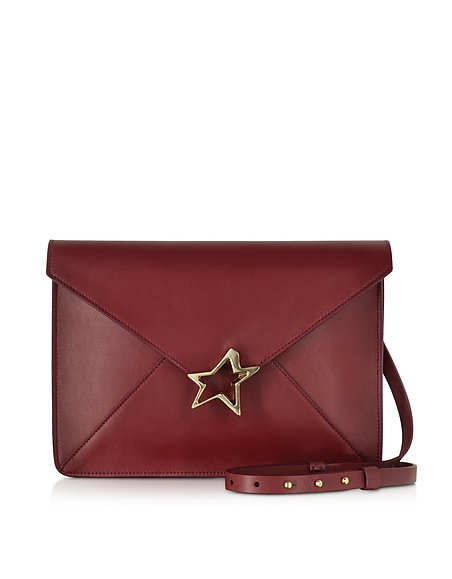 Foto Corto Moltedo Tiffany Star Borsa in Pelle Bordeaux con Tracolla Borse donna