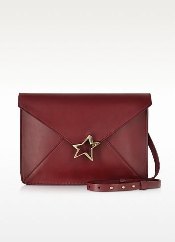 Tiffany Star Burgundy Leather Shoulder Bag - Corto Moltedo