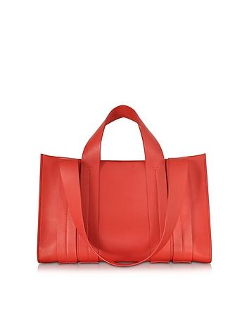 Costanza Beach Club Red Leather Tote